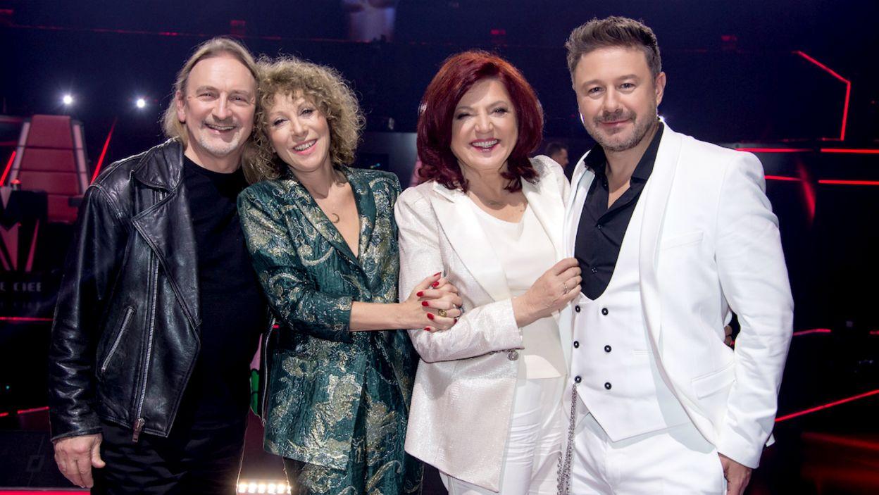 W fotelach trenerskich zasiadali: Urszula Dudziak, Alicja Majewska., Marek Piekarczyk i Andrzej Piaseczny (fot. TVP/Jan Bogacz)