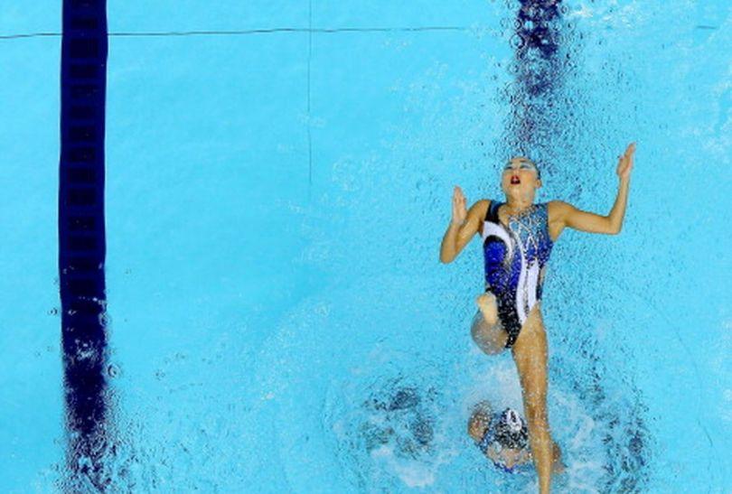 Japonki podczas rywalizacji w pływaniu synchronicznym (fot.Getty Images)