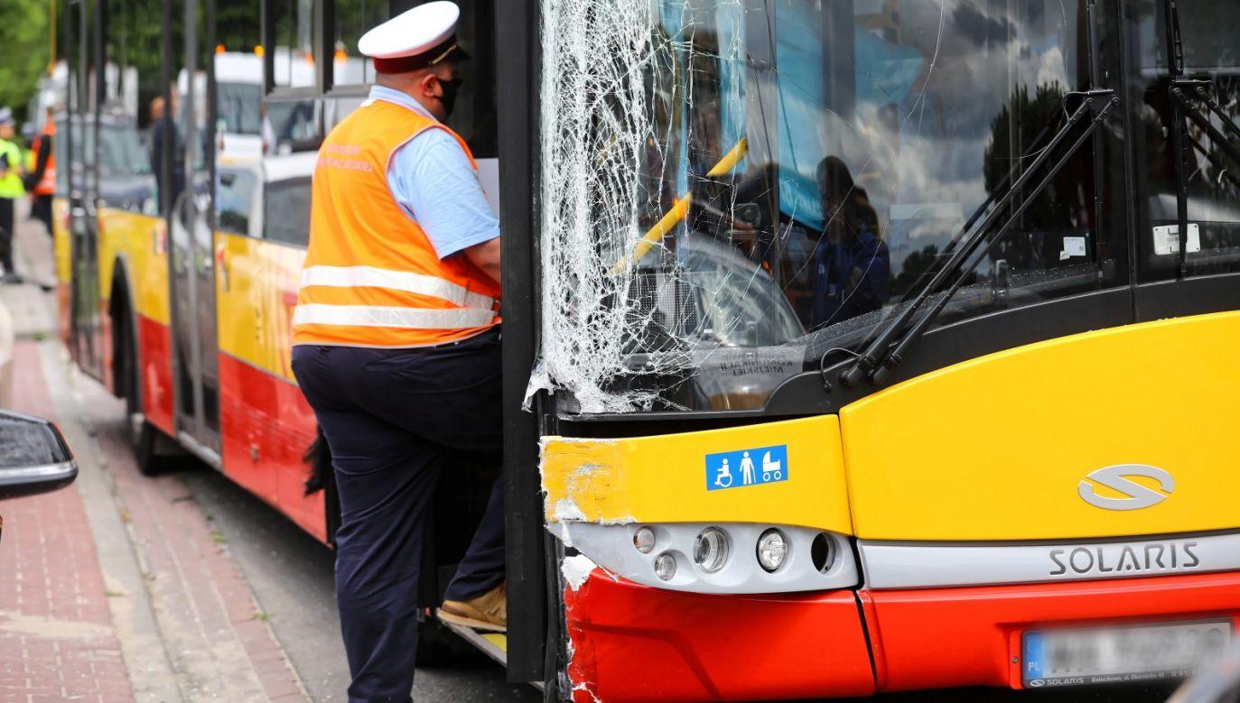 W ostatnim czasie doszło do trzech wypadków autobusów w Warszawie (fot. PAP/Rafał Guz)