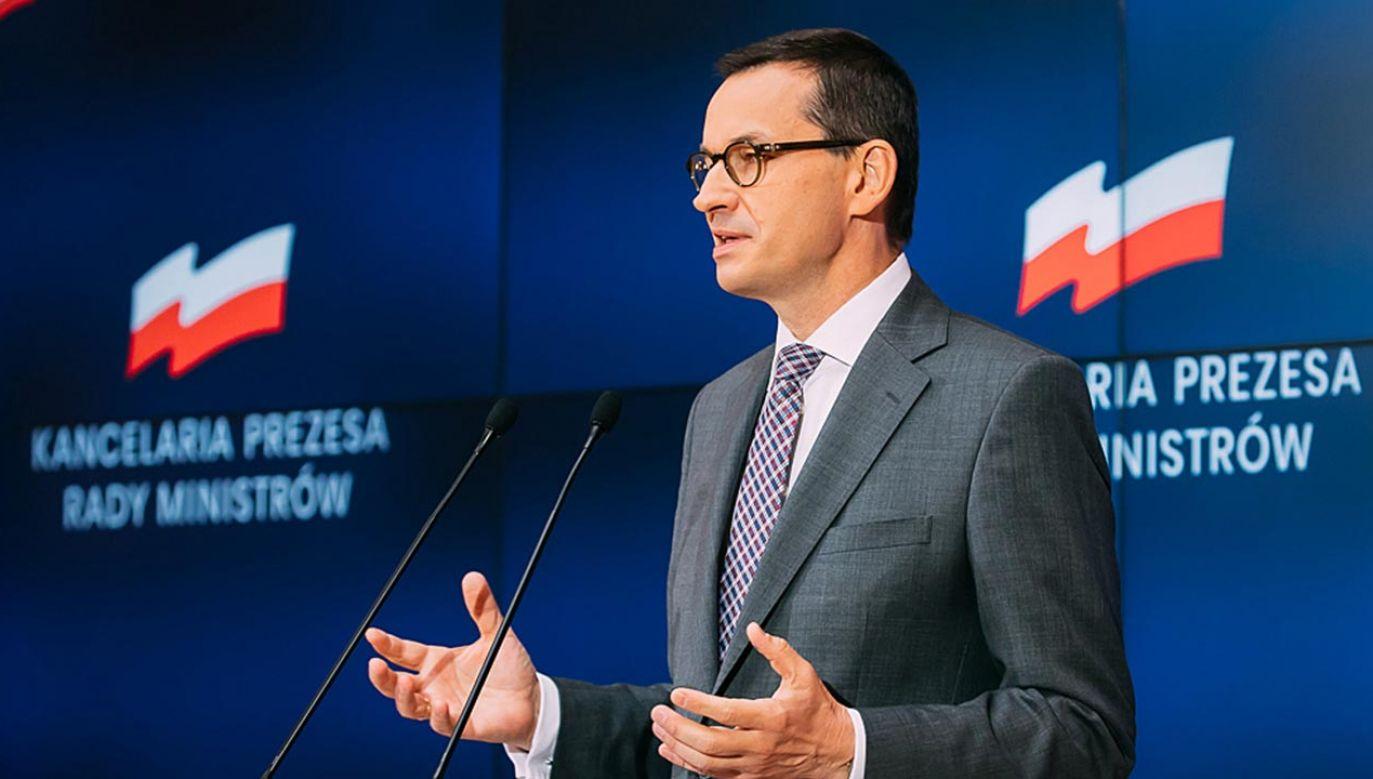 Premier Mateusz Morawiecki prezentuje filary KPO (fot. Krystian Maj/KPRM)