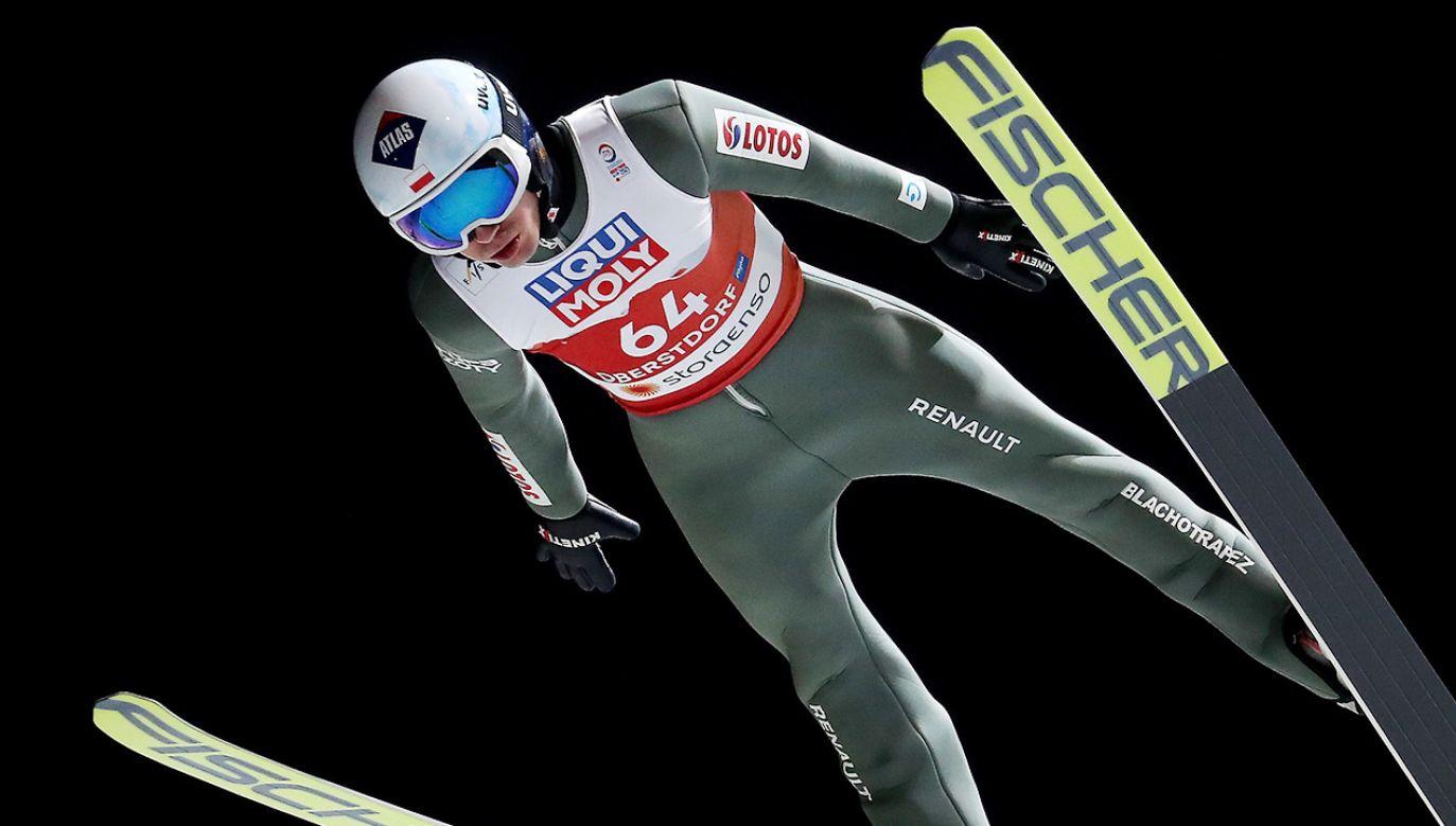 Kamil Stoch był najlepszym z Polaków w piątkowych kwalifikacjach (fot. PAP/Grzegorz Momot)