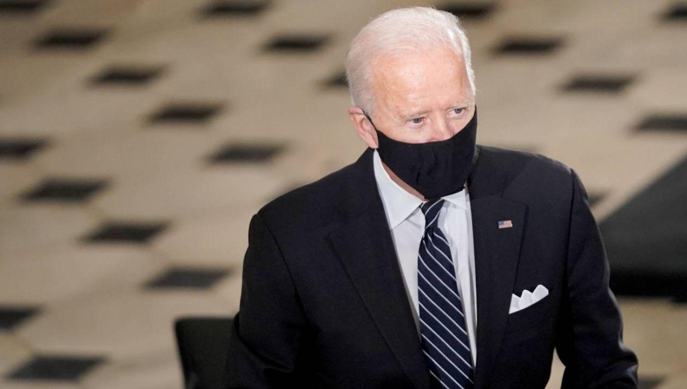 Kandydat Demokratów na prezydenta USA Joe Biden  (fot. PAP/EPA/GREG NASH / POOL)