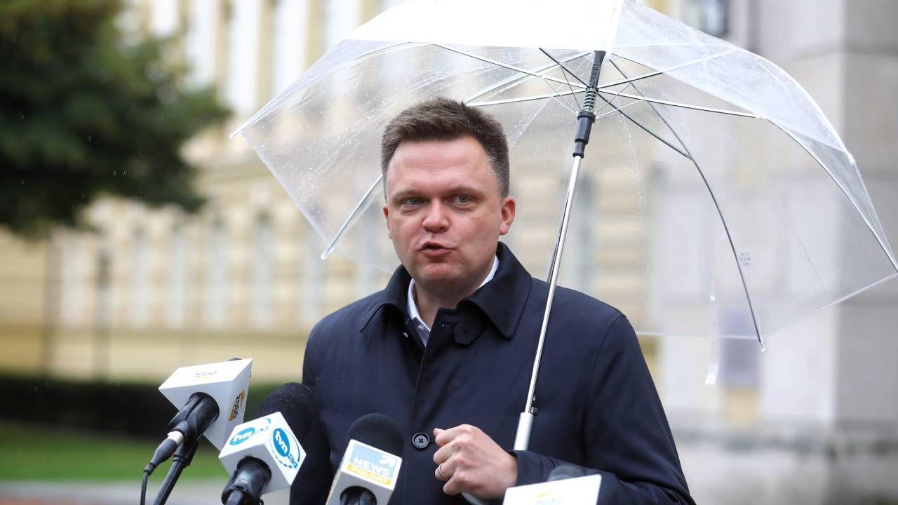Hołownia o przyjmowaniu nielegalnych migrantów (fot. PAP/Rafał Guz)