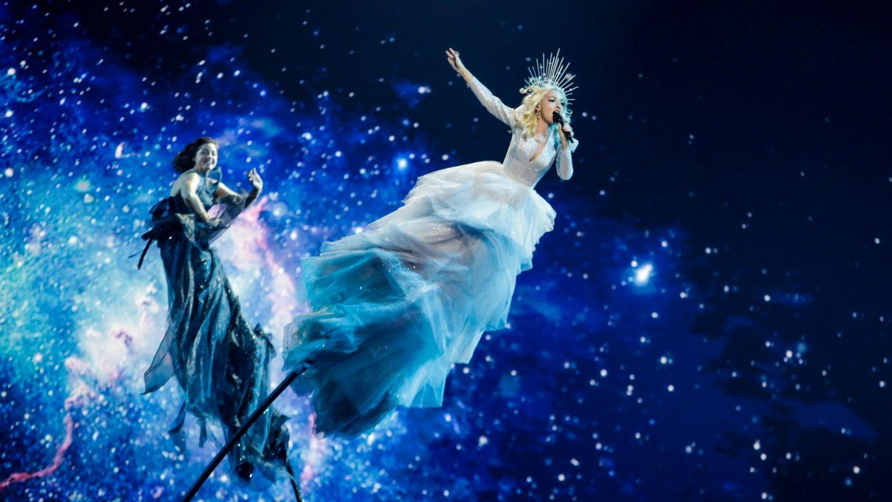 To był występ na wysokim poziomie! Dosłownie... Kate Miller-Heidke przygotowała spektakularne show, co zapewniło Australii udział w finale (fot. Thomas Hanses/EBU)