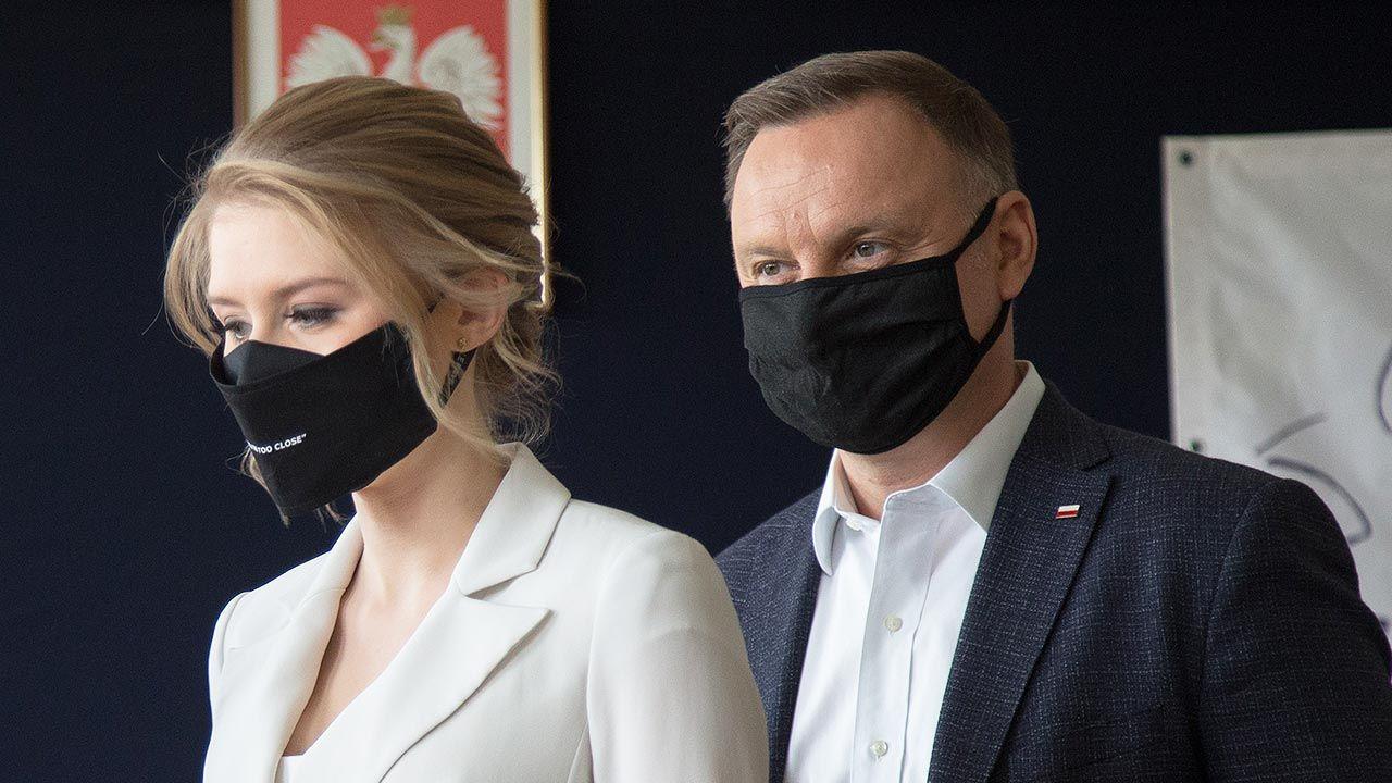 Kinga Duda i prezydent Andrzej Duda (fot. Forum/ArtService/Tomasz Jagodzinski)