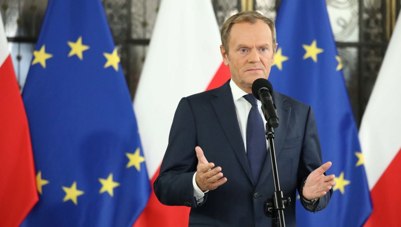 Lider PO Donald Tusk (fot. PAP/Tomasz Gzell)