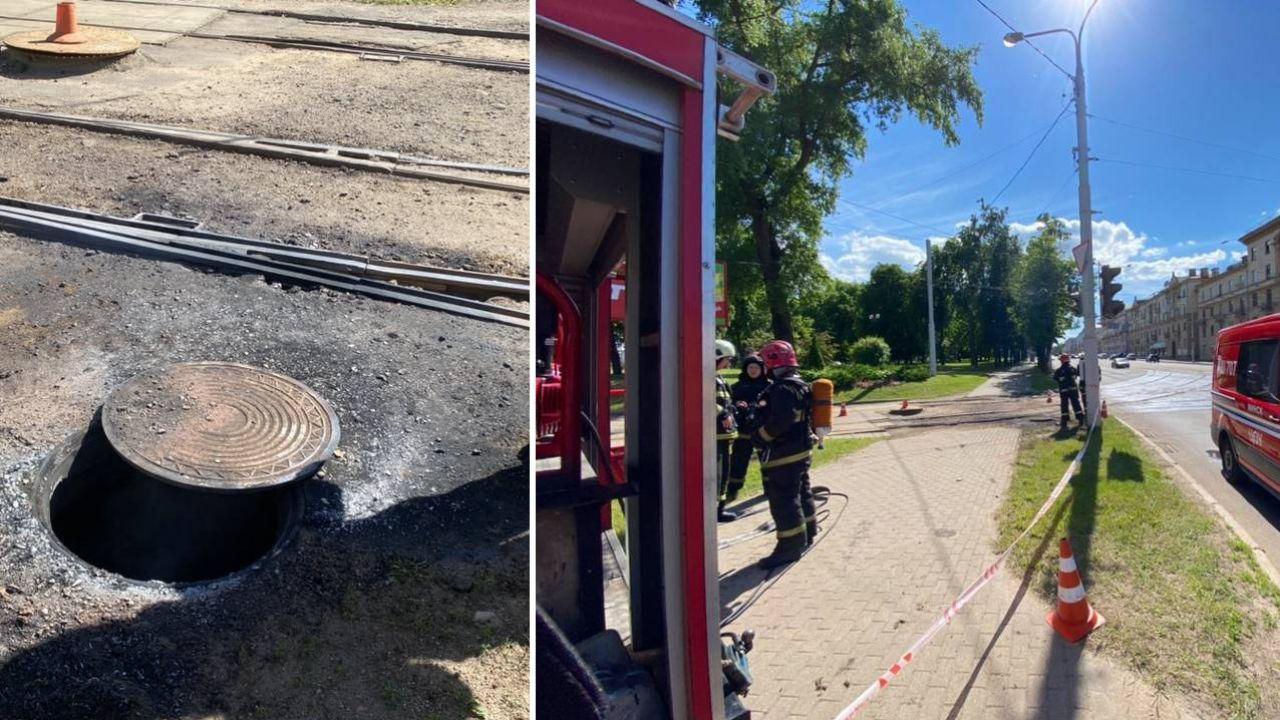 Ugaszono pożar (fot. TT/112Minsk)