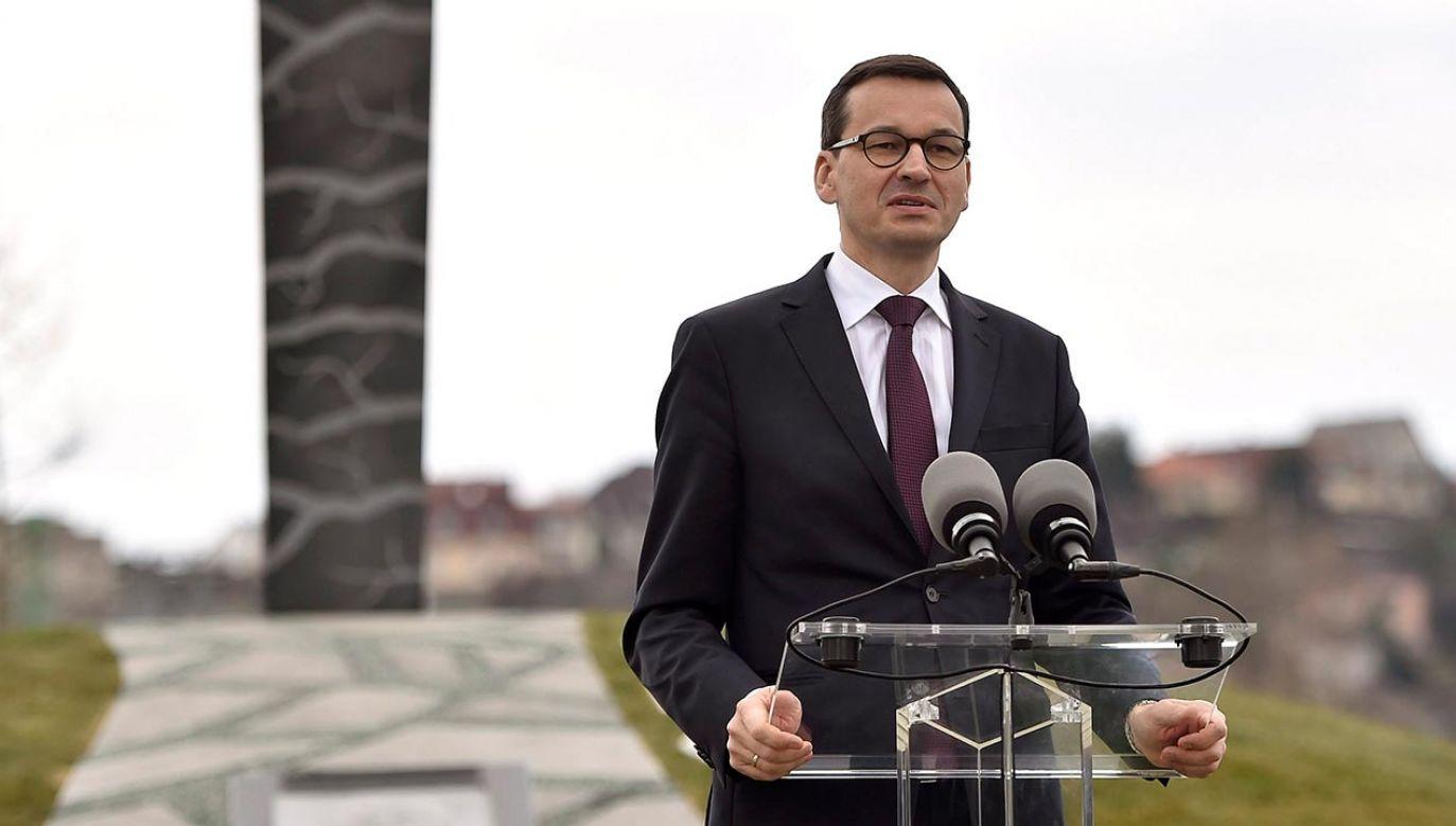 Szef rządu Mateusz Morawiecki (fot. PAP/EPA/Zoltan Mathe)