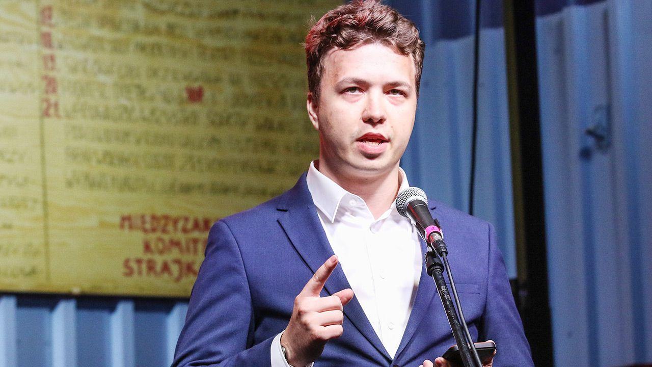 Białoruski dziennikarz Raman Pratasiewicz był pod ochroną służb (fot. Michal Fludra/NurPhoto via Getty Images)