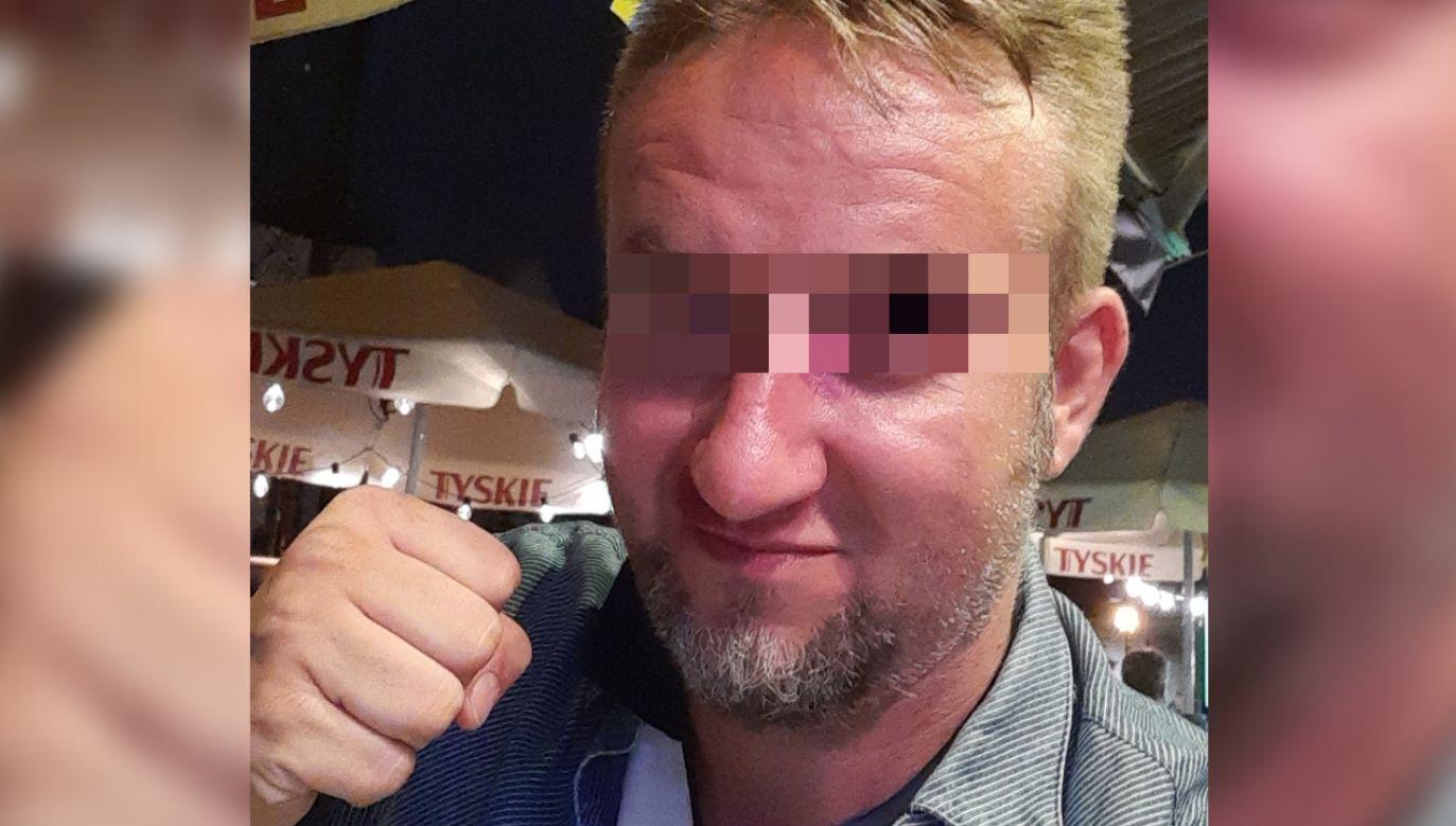 Mężczyzna był agresywny (fot. Twitter.com)