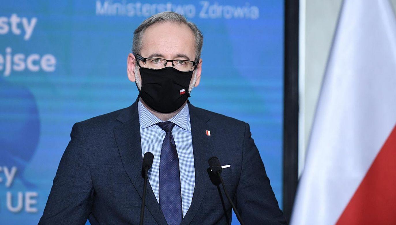 Minister zdrowia stwierdził, że prawdopodobnie doszło do naruszenia zasad (fot. PAP/Marcin Obara)