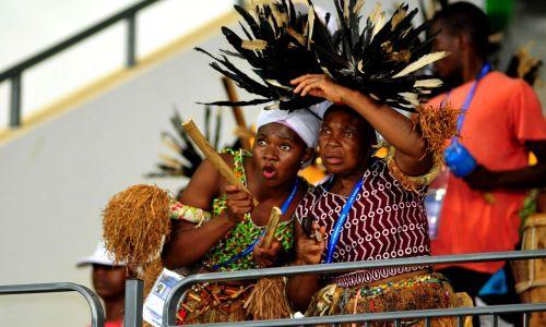 Szamani wspierają piłkarzy (fot. arch. PAP/AA/ABACA)