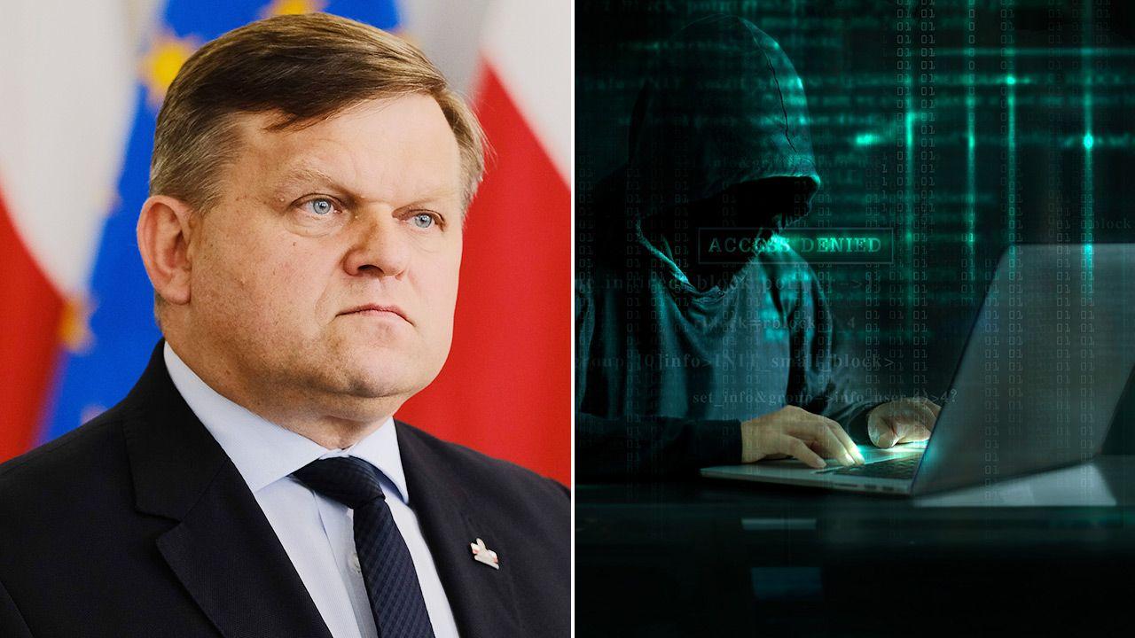 Wojciech Skurkiewicz odniósł się do ataku hakerskiego na skrzynkę mailową szefa kancelarii premiera (fot. PAP/Mateusz Marek; Shutterstock)