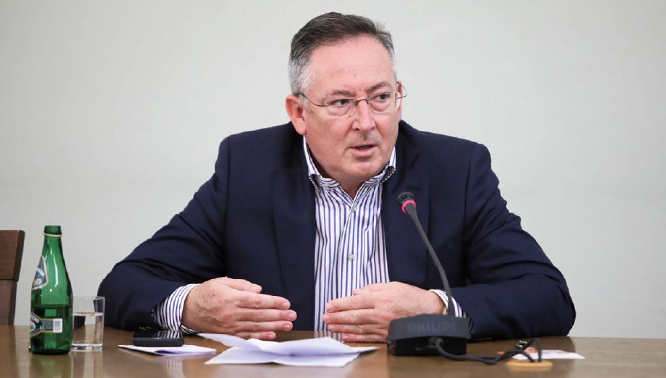 B. minister spraw wewnętrznych Bartłomiej Sienkiewicz przed komisją ds. VAT (fot. PAP/Leszek Szymański)
