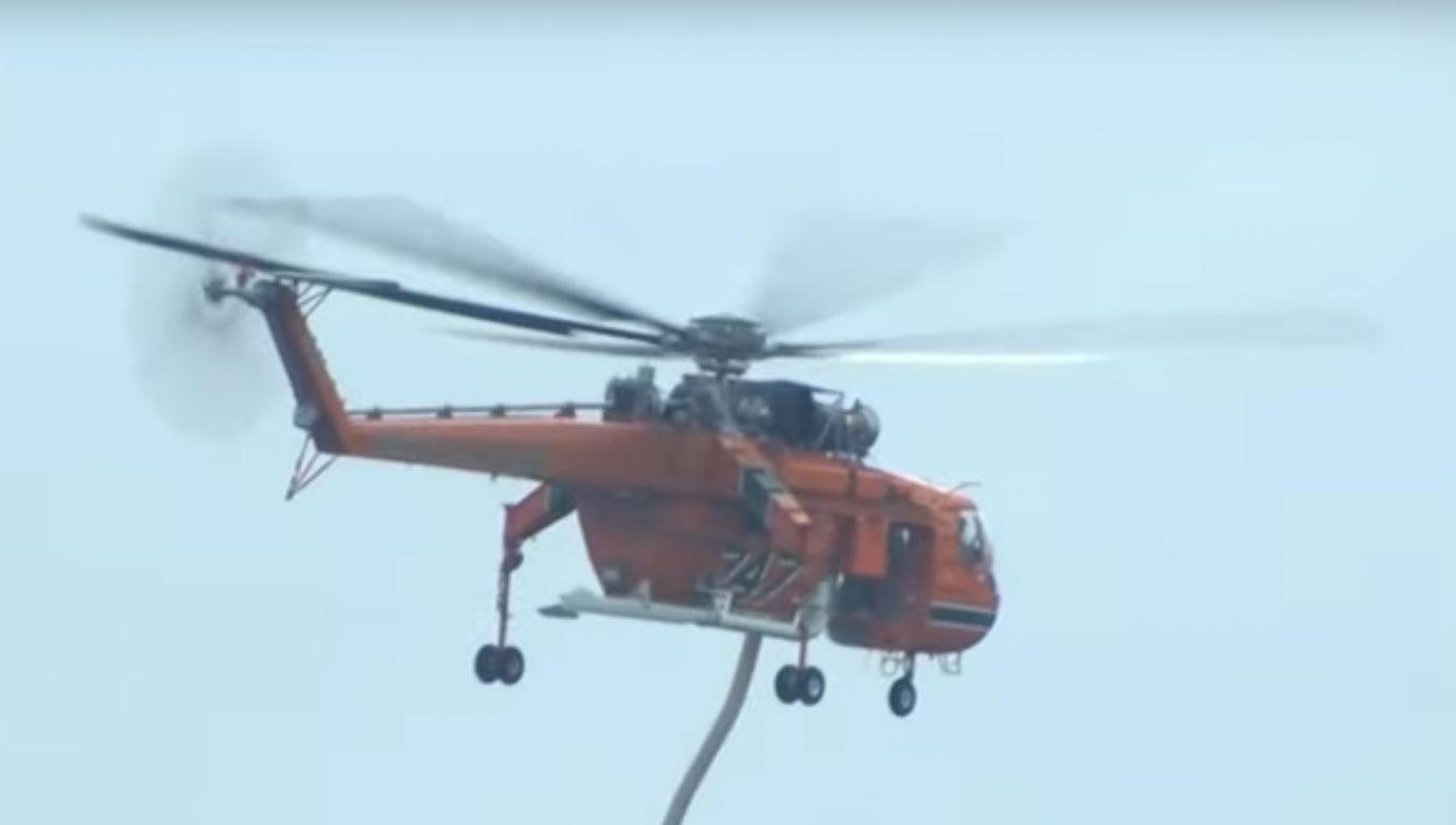 Greckie służby walczą z ogniem na wyspie Kefalonia i w innych regionach (fot. youtube)