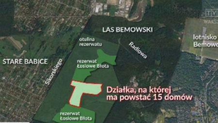 Prokuratura prowadzi czynności w związku z budową osiedla w otulinie rezerwatu Łosiowe Błota (fot. tvp3)