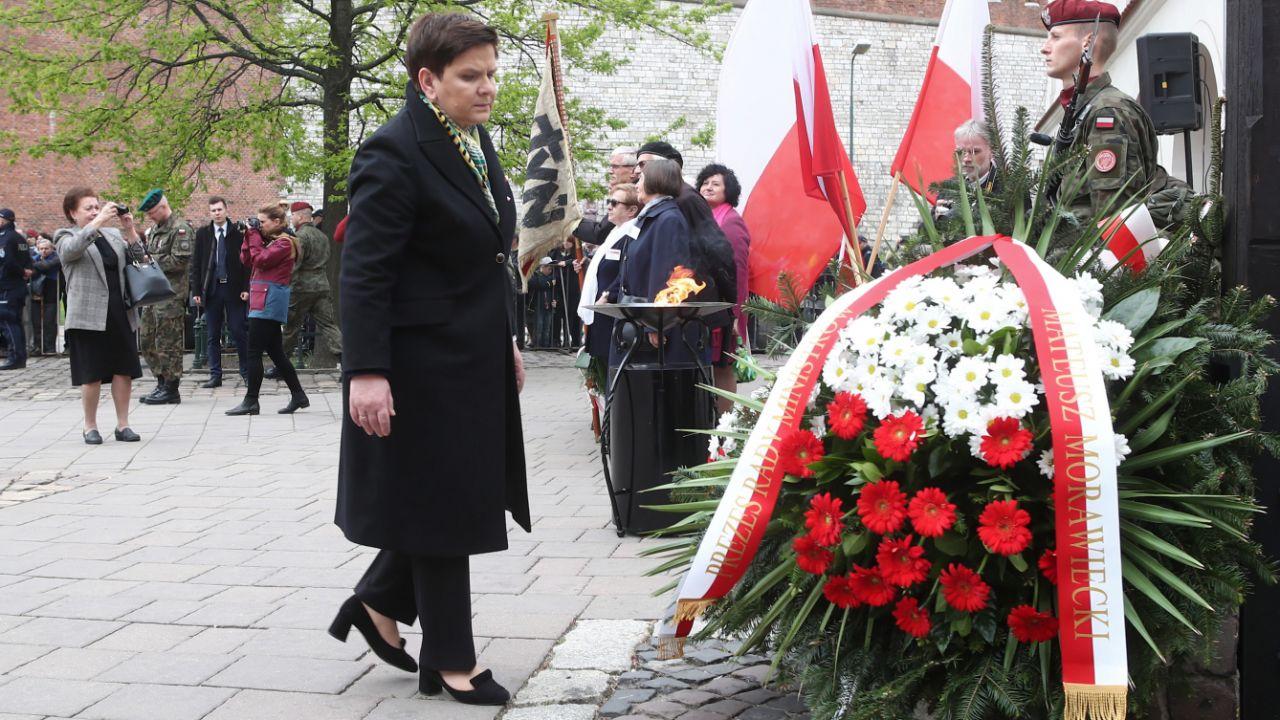Wicepremier Beata Szydło, która wzięła udział w krakowskich obchodach Święta Narodowego Trzeciego Maja (fot. PAP/Łukasz Gągulski)