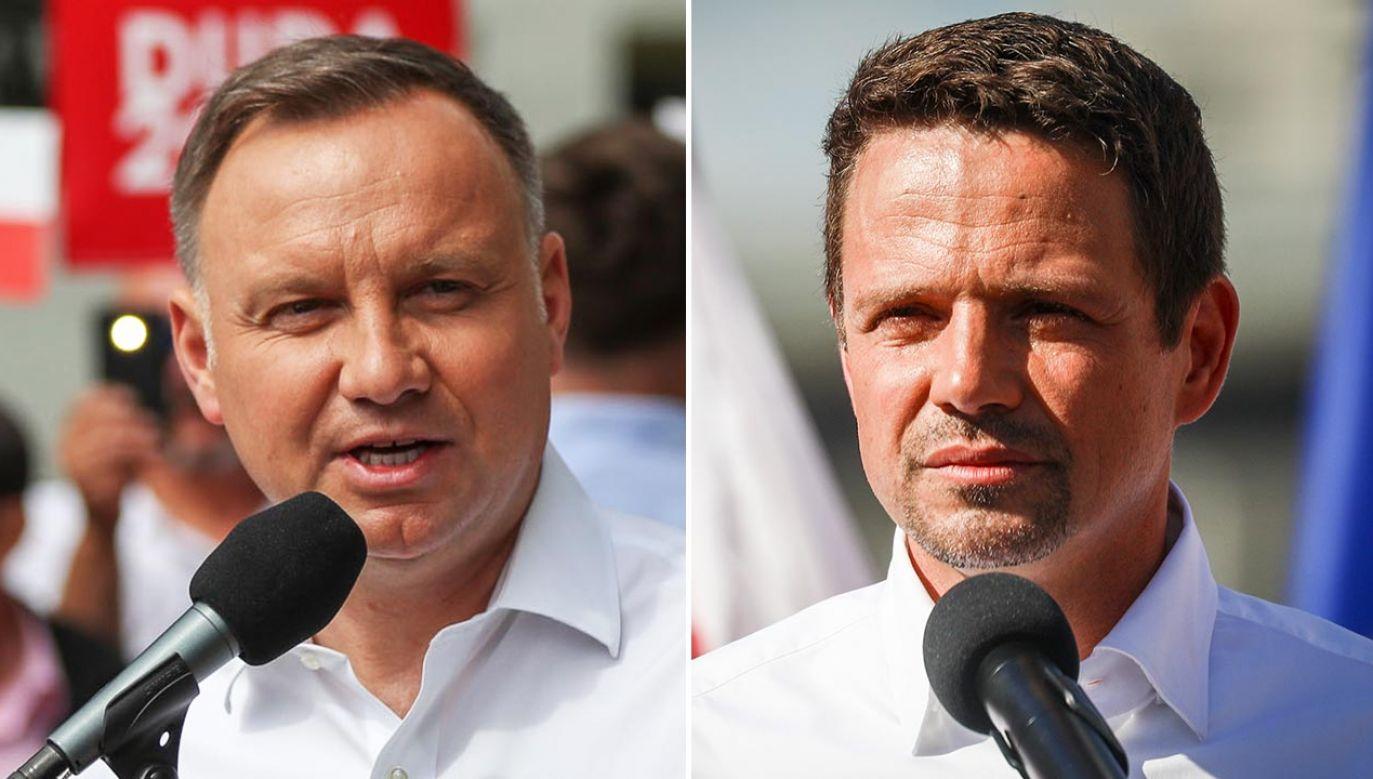Czy Trzaskowski przyjdzie na debatę w Końskich? (fot. Twitter/Duda2020; Beata Zawrzel/NurPhoto via Getty Images)