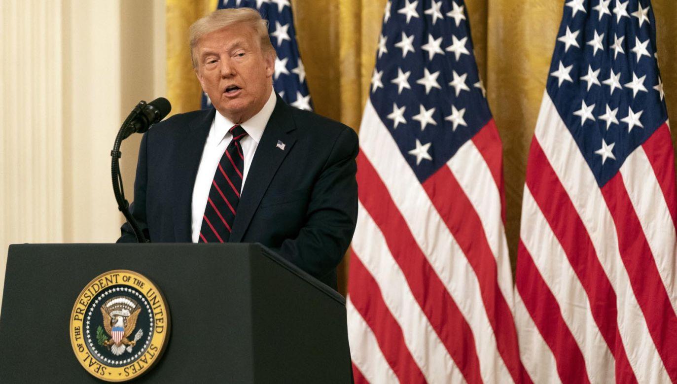 Prezydent USA Donald Trump (fot.  PAP/EPA/Chris Kleponis / POOL)