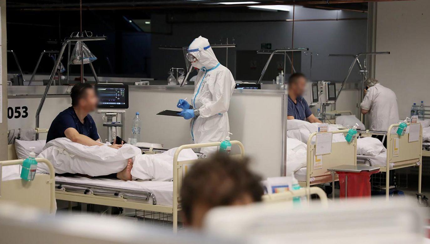 Komentuje dyrektor Szpitala Narodowego (fot. PAP/Leszek Szymański)