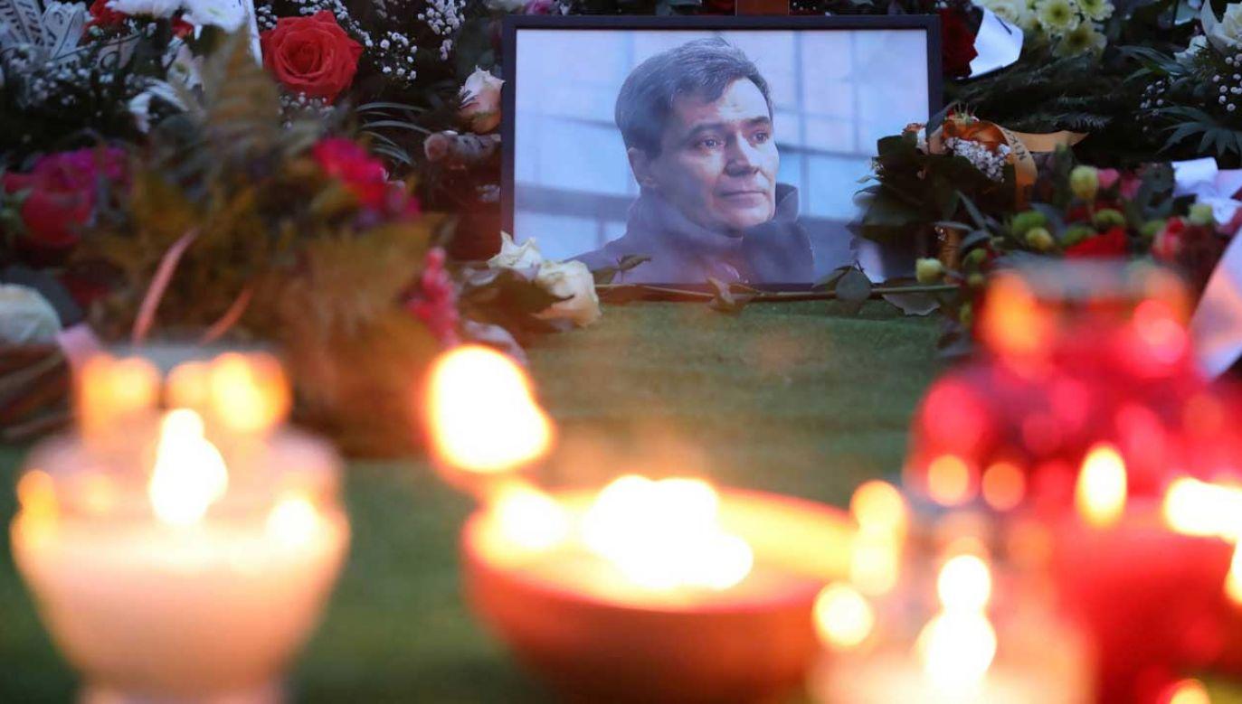 Pogrzeb dziennikarza Krzysztofa Leskiego odbył się 17 stycznia 2020 roku (fot. PAP/Leszek Szymański)
