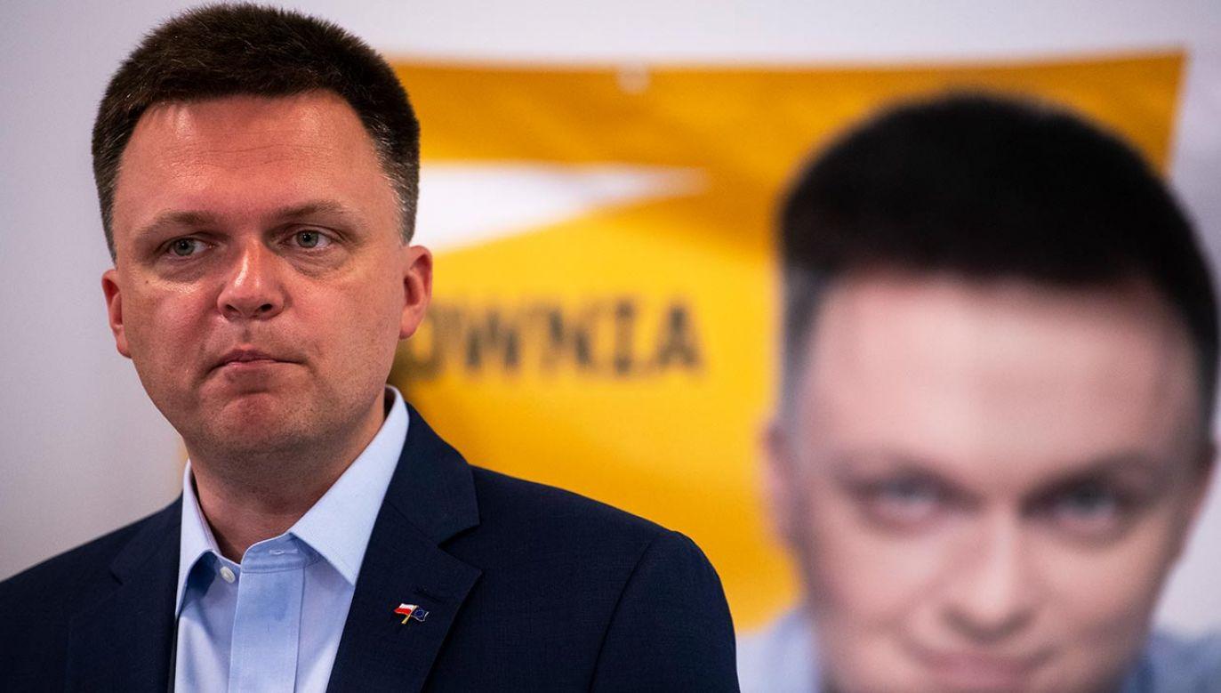 Spada poparcie dla Hołowni (fot. Forum/Michal Kosc)