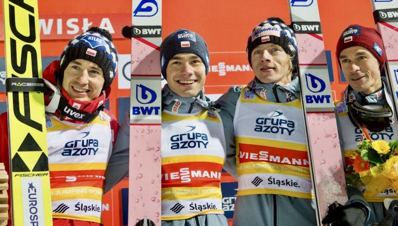 n/z Kamil Stoch, Dawid Kubacki, Jakub Wolny, Piotr Zyla (fot. Foto Olimpik/NurPhoto via Getty Images)