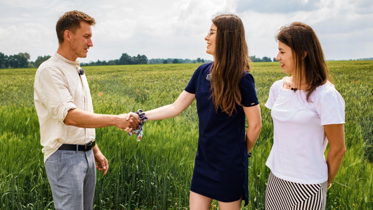 – Chciałbym, żeby została ze mną Ilonka – powiedział i podziękował za przyjazd Monice (fot. TVP)