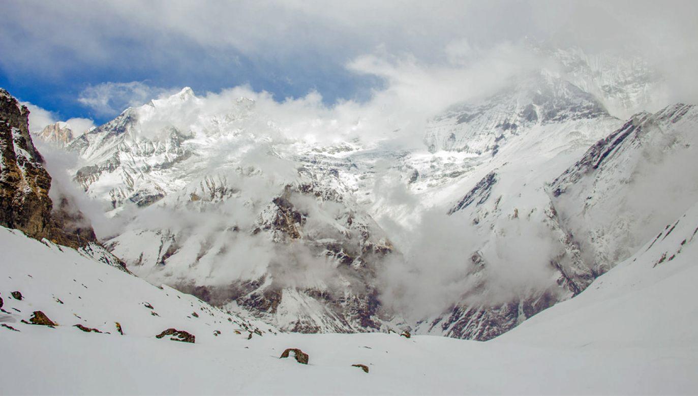 Annapurna jest dziesiątym co do wysokości szczytem Ziemi (fot. Wiki 3.0/Jodhani.micky)