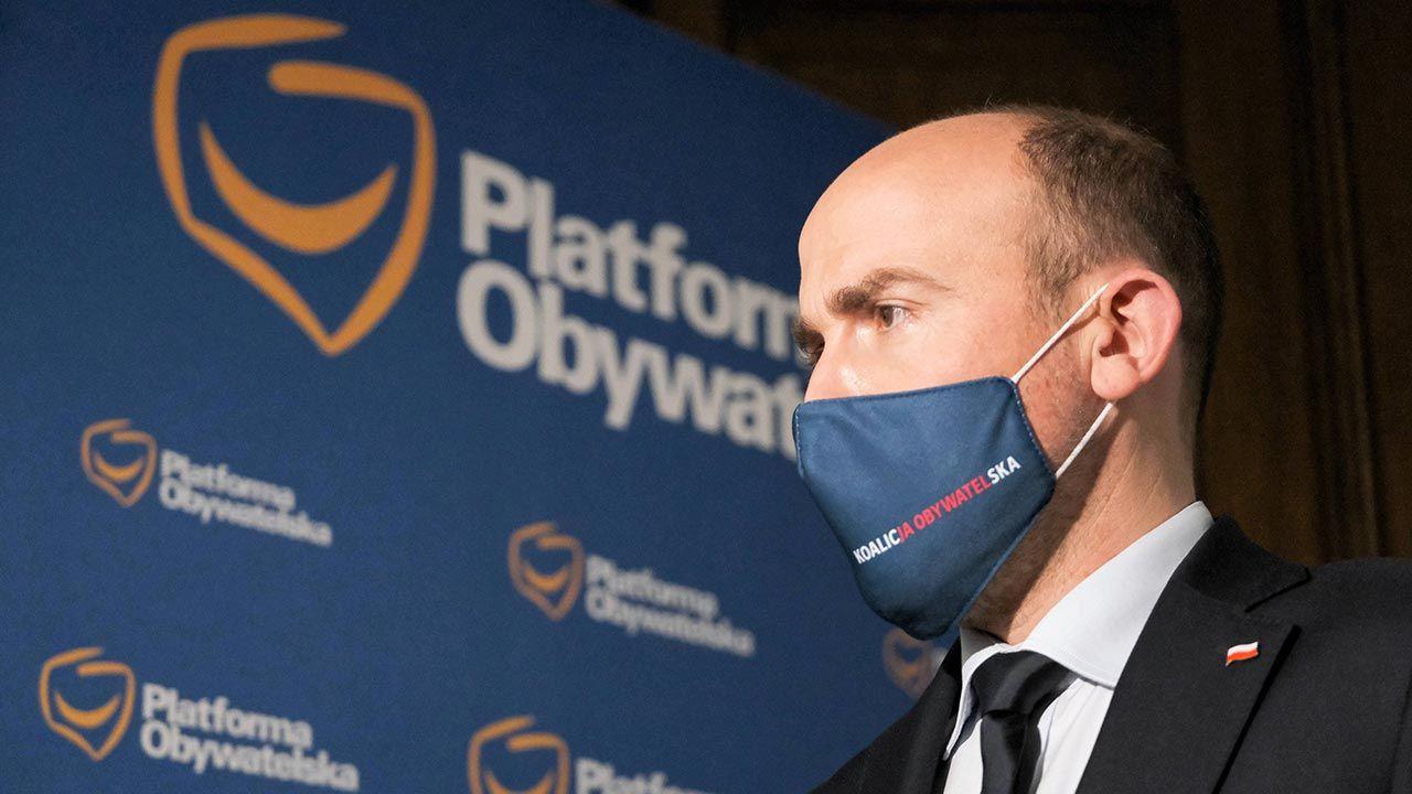 Przewodniczący Platformy Obywatelskiej Borys Budka (fot. PAP/Mateusz Marek)