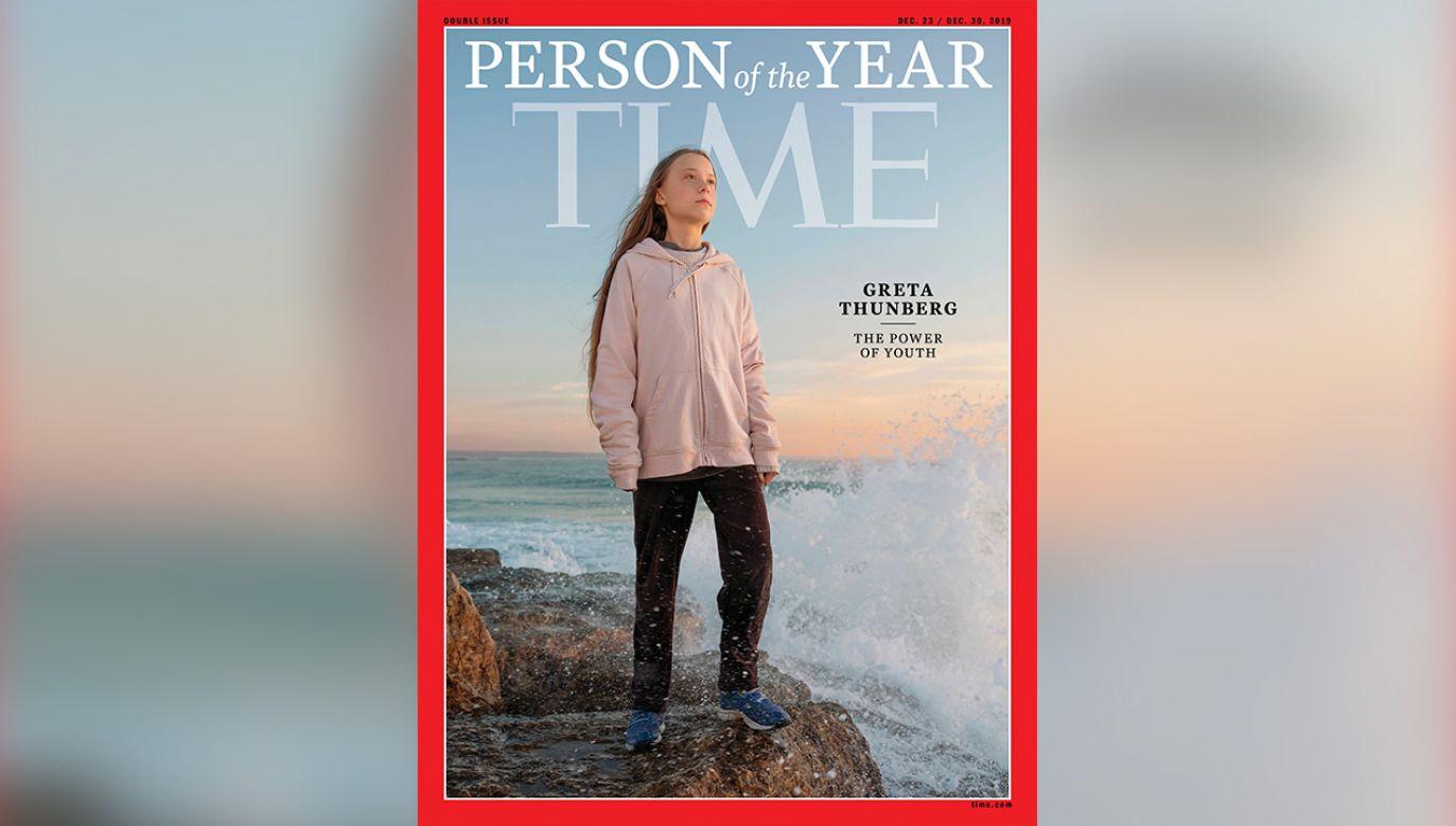 """""""Time"""" pochwalił ją za rozpoczęcie akcji, która przerodziła się w światowy ruch (fot. arch.PAP/EPA/EVGENIA ARBUGAEVA)"""