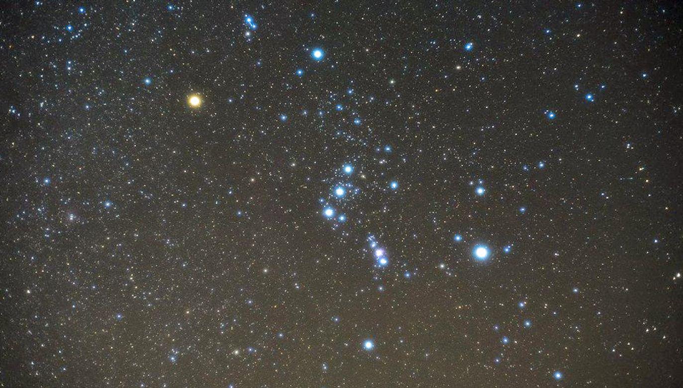 Betelgeza znajduje się w lewym górnym roku gwiazdozbioru Oriona (fot. Pixabay)