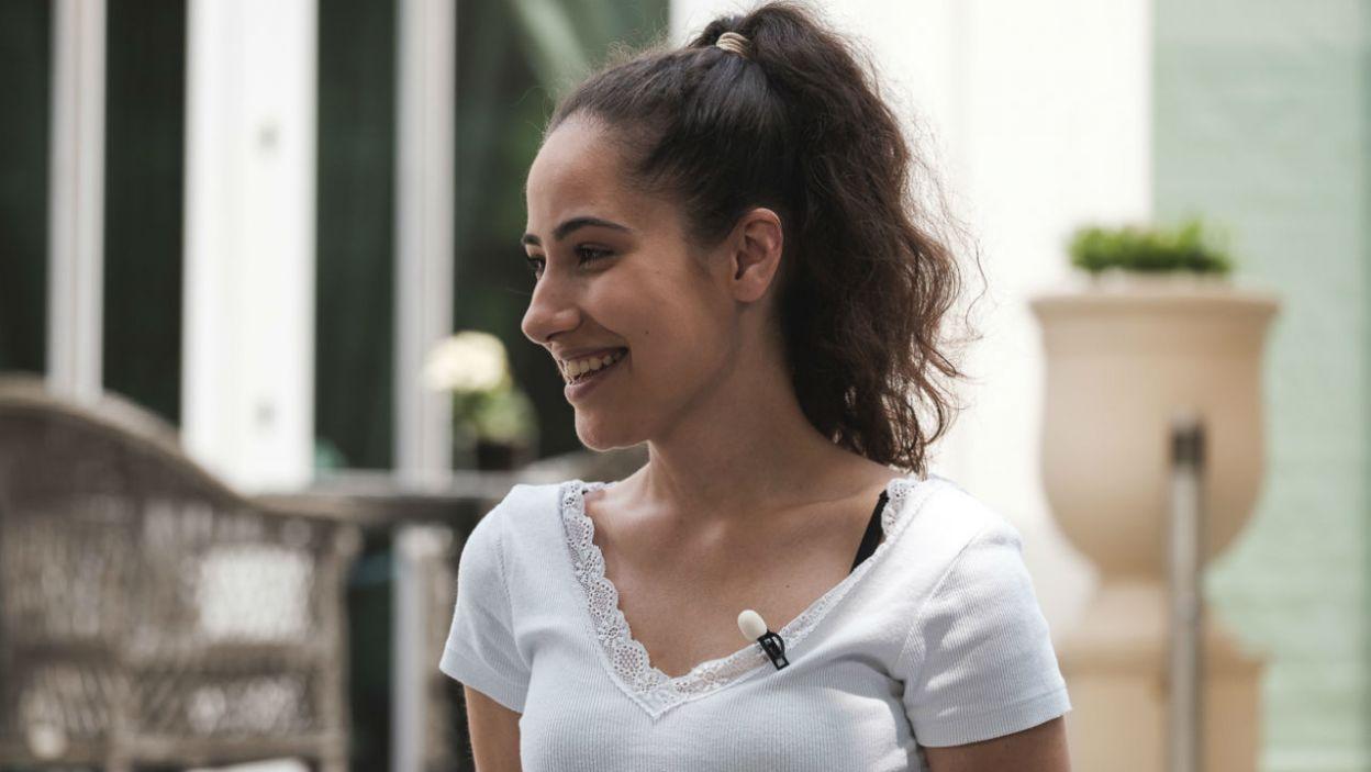 Marlena wylosowała całkiem przyjemne zadanie – masaż. Jak sobie poradziła? (fot. M. Siarek/TVP)