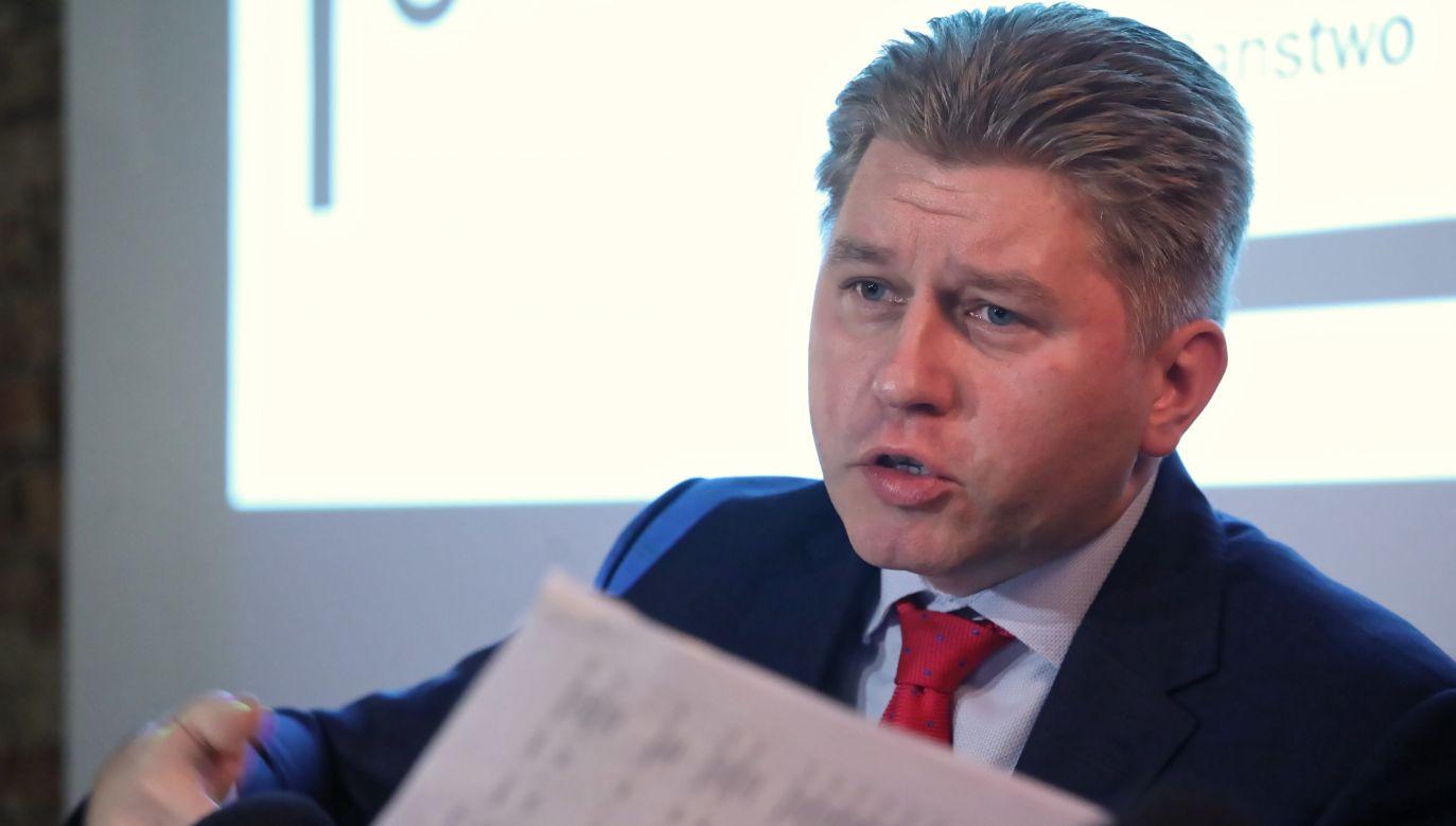 Pytania do sędziego dotyczyły złożonego przez opozycję projektu nowelizacji ustawy o KRS (fot. arch. PAP/Tomasz Gzell)