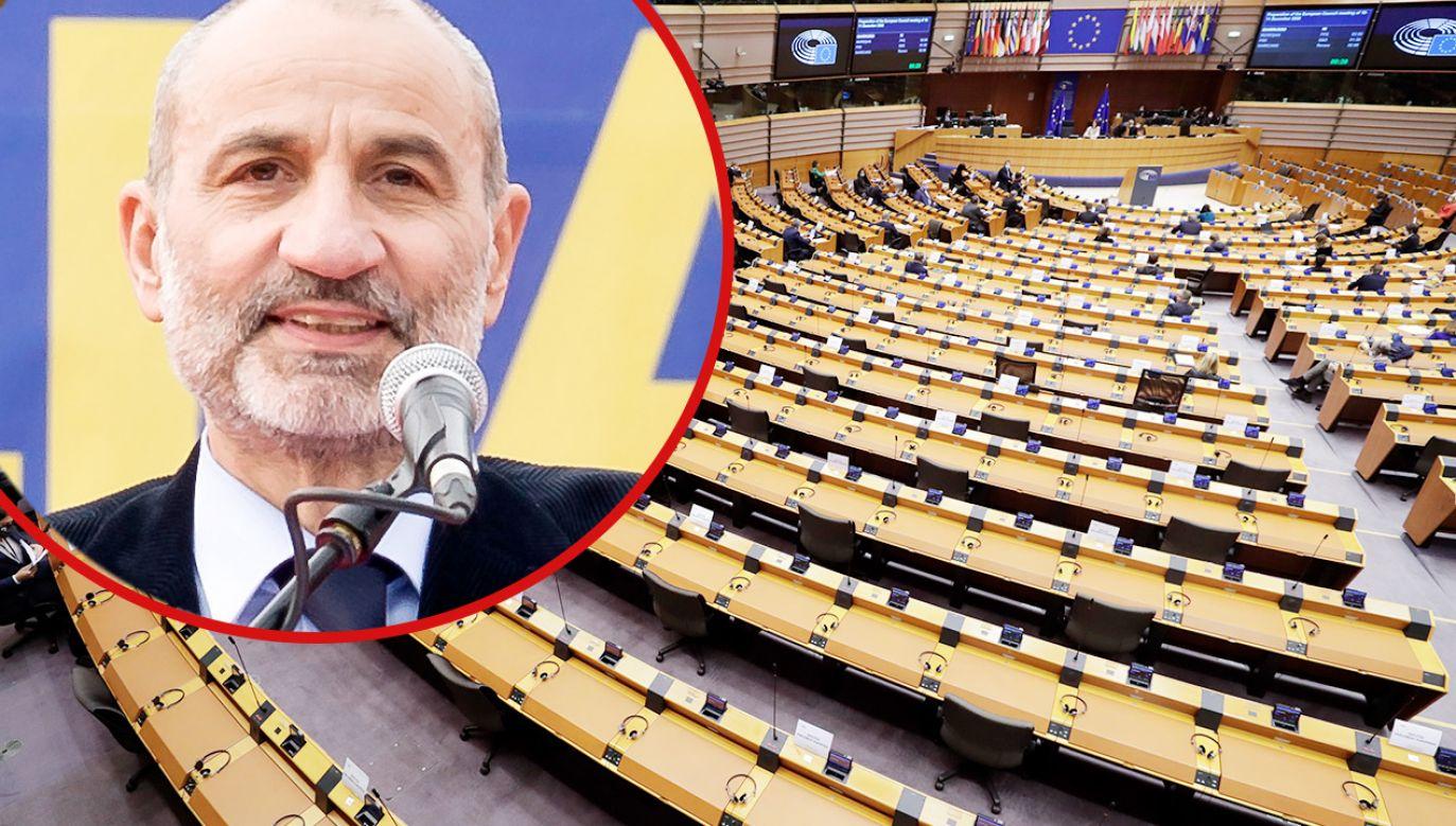 Głos zabrał lider stowarzyszenia Massimo Gandolfini (fot. PAP/EPA/OLIVIER HOSLET; Stefano Montesi/Corbis via Getty Images)