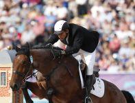 Pięcioboista Adam Marosi podczas rywalizacji w jeździectwie (fot.PAP)