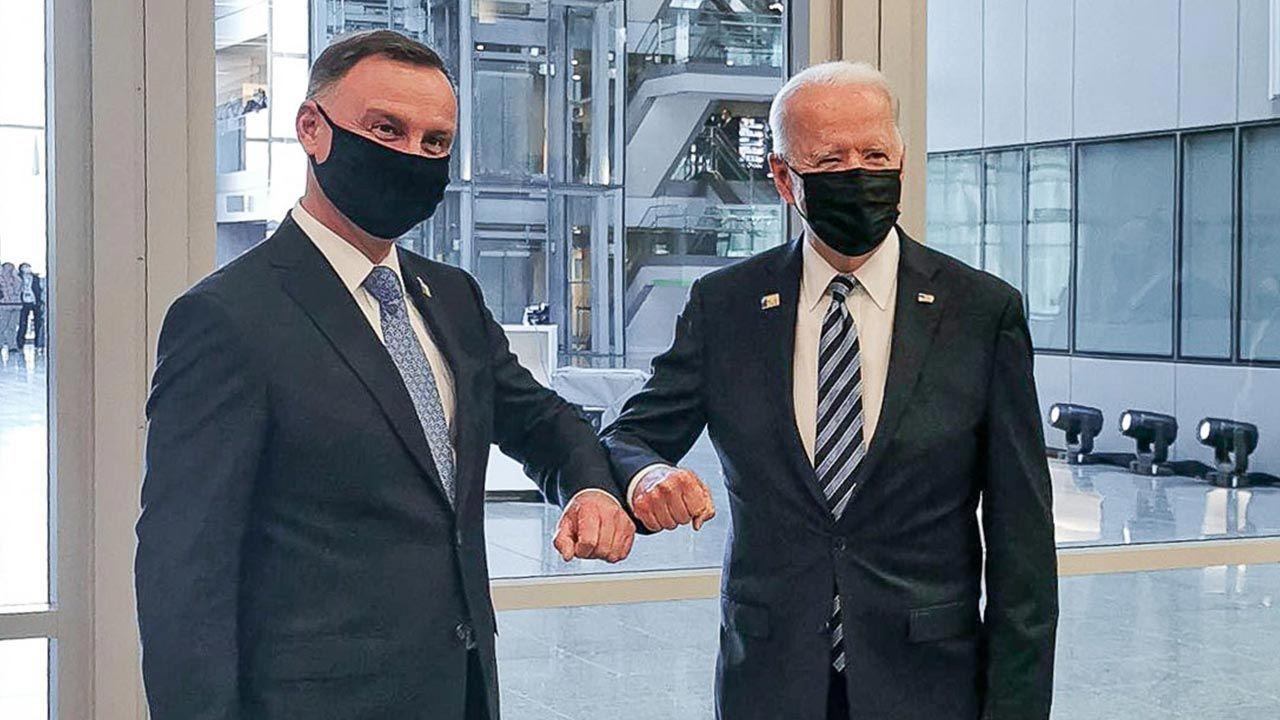 Spotkanie prezydenta Dudy z prezydentem Bidenem (fot. prezydent.pl)