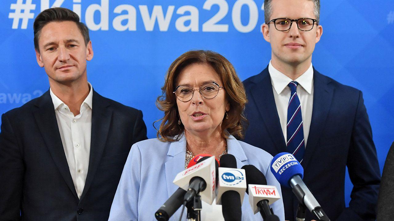 Małgorzata Kidawa-Błońska zabrała głos na Twitterze (fot. PAP/Marcin Bielecki)