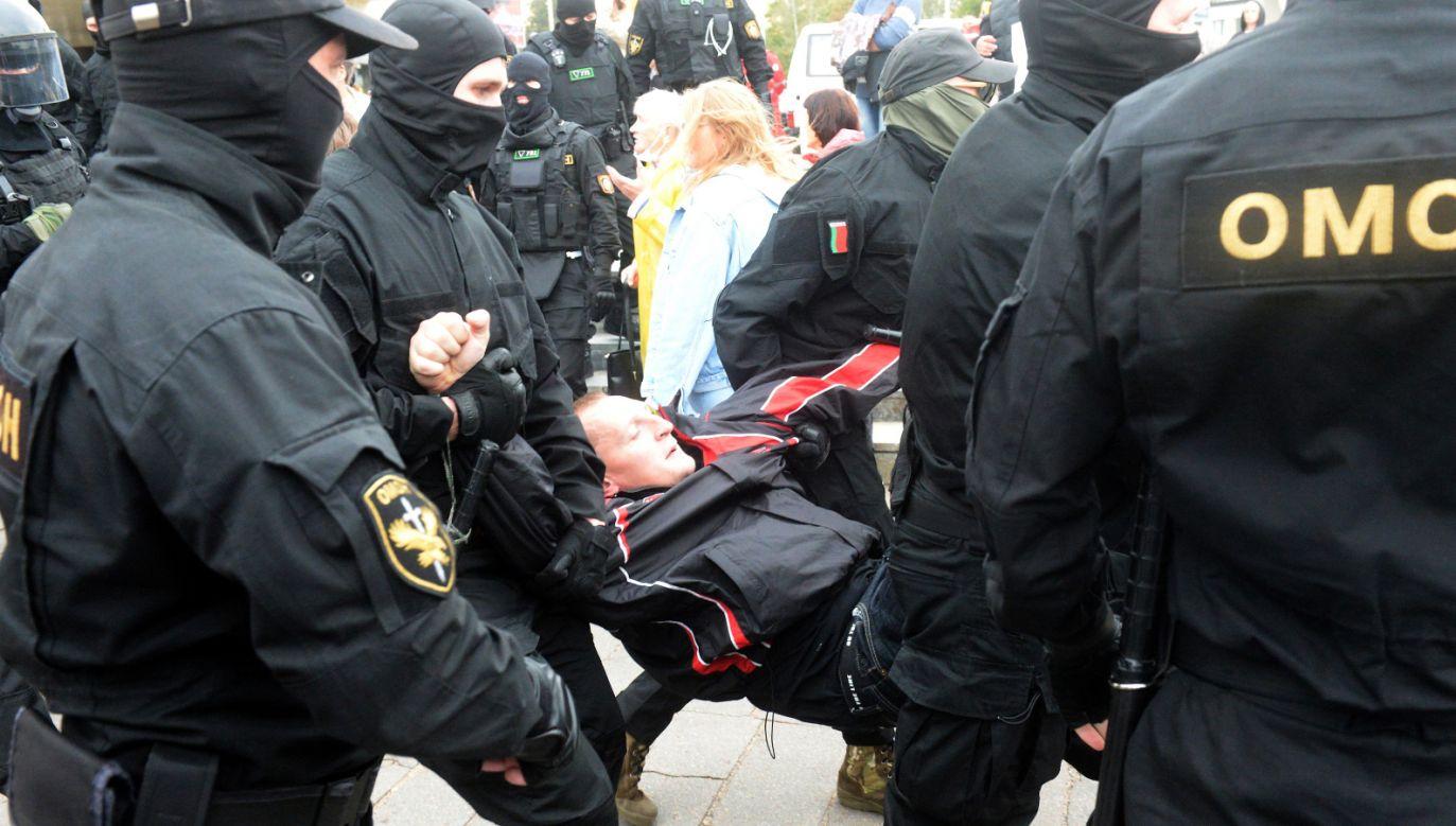 Protesty na Białorusi trwają  od sierpnia (fot. PAP/EPA)
