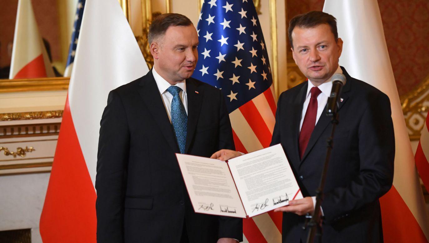To wielki dzień, jeśli chodzi o bezpieczeństwo Polski i NATO – ocenia Mariusz Błaszczak (fot. PAP/Radek Pietruszka)