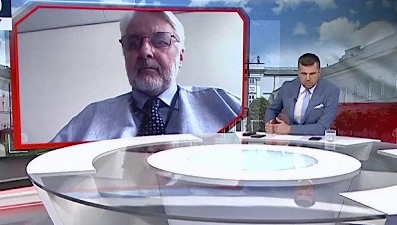 Sukcesy konserwatywnego. polskiego rządu budzą wściekłość – ocenił Waszczykowski (fot. TVP Info)