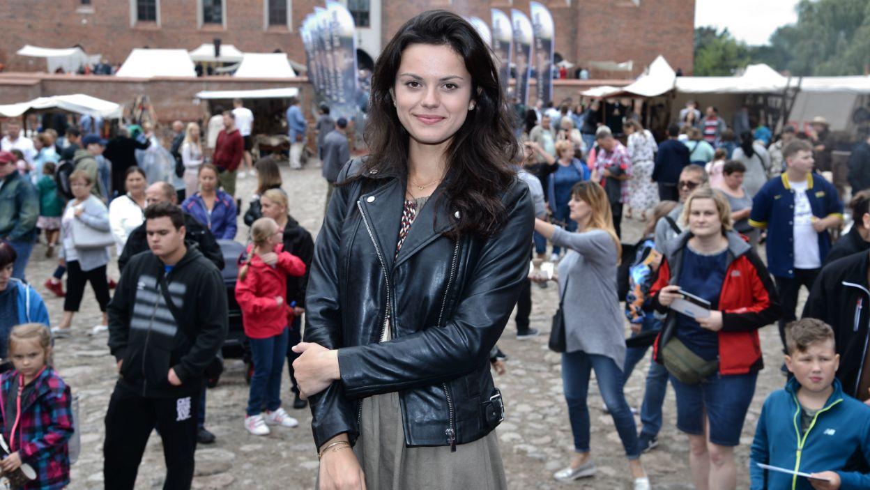 Obecna była Paulina Lasota, odtwórczyni roli kasztelanki Cudki (fot. J. Bogacz/TVP)