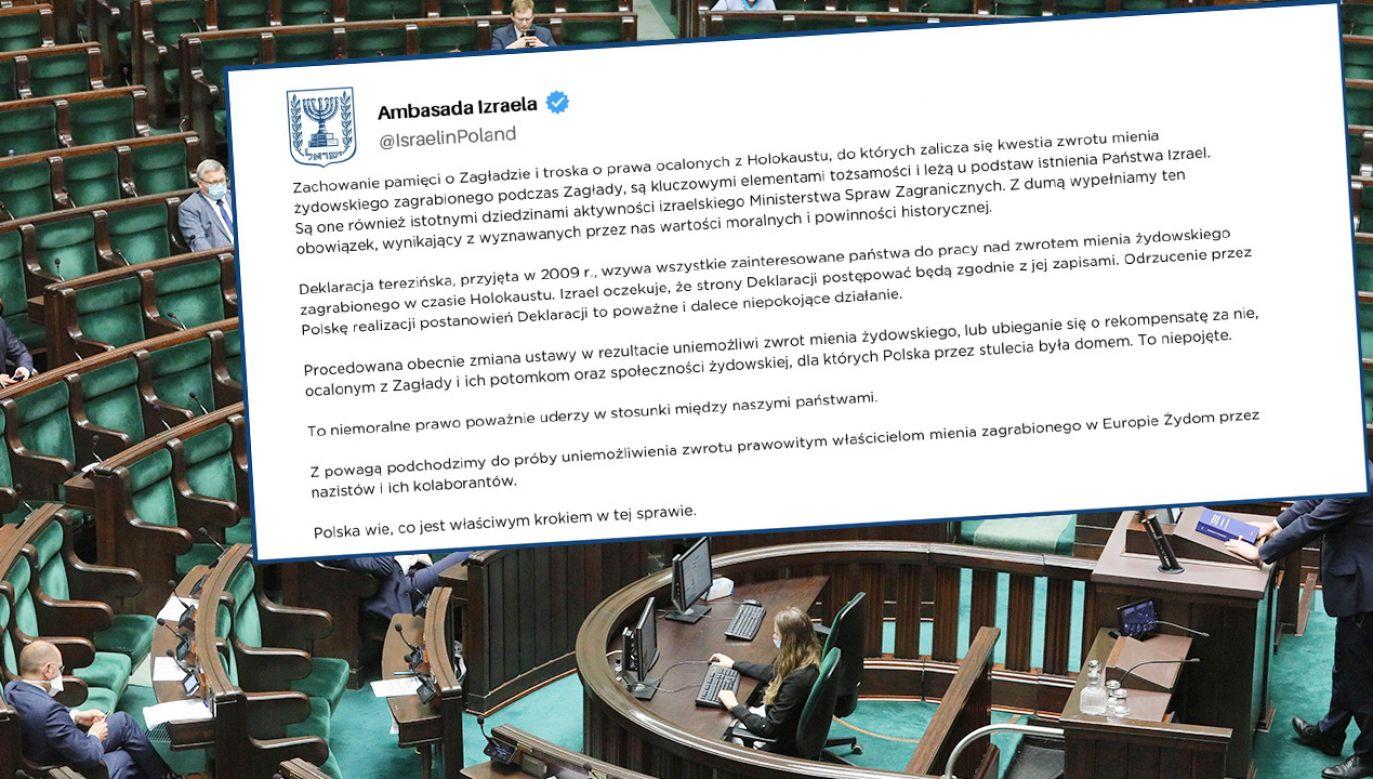 Ambasada Izraela poinformowała, że zmiana polskiego prawa wpłynie na relacje pomiędzy oboma krajami (fot. PAP/Paweł Supernak; TT/PAP/Paweł Supernak)