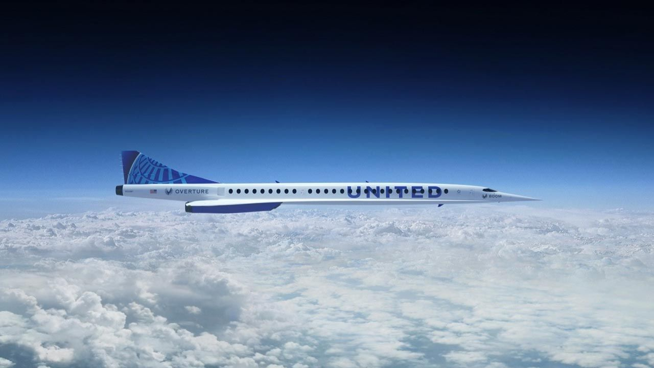 """United Airlines kupują samoloty """"Overture"""" (fot. boomsupersonic.com)"""
