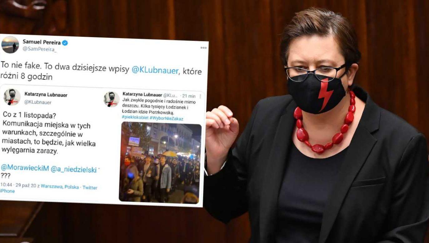 Katarzyna Lubnauer popiera demonstracje (fot. PAP/Piotr Nowak)
