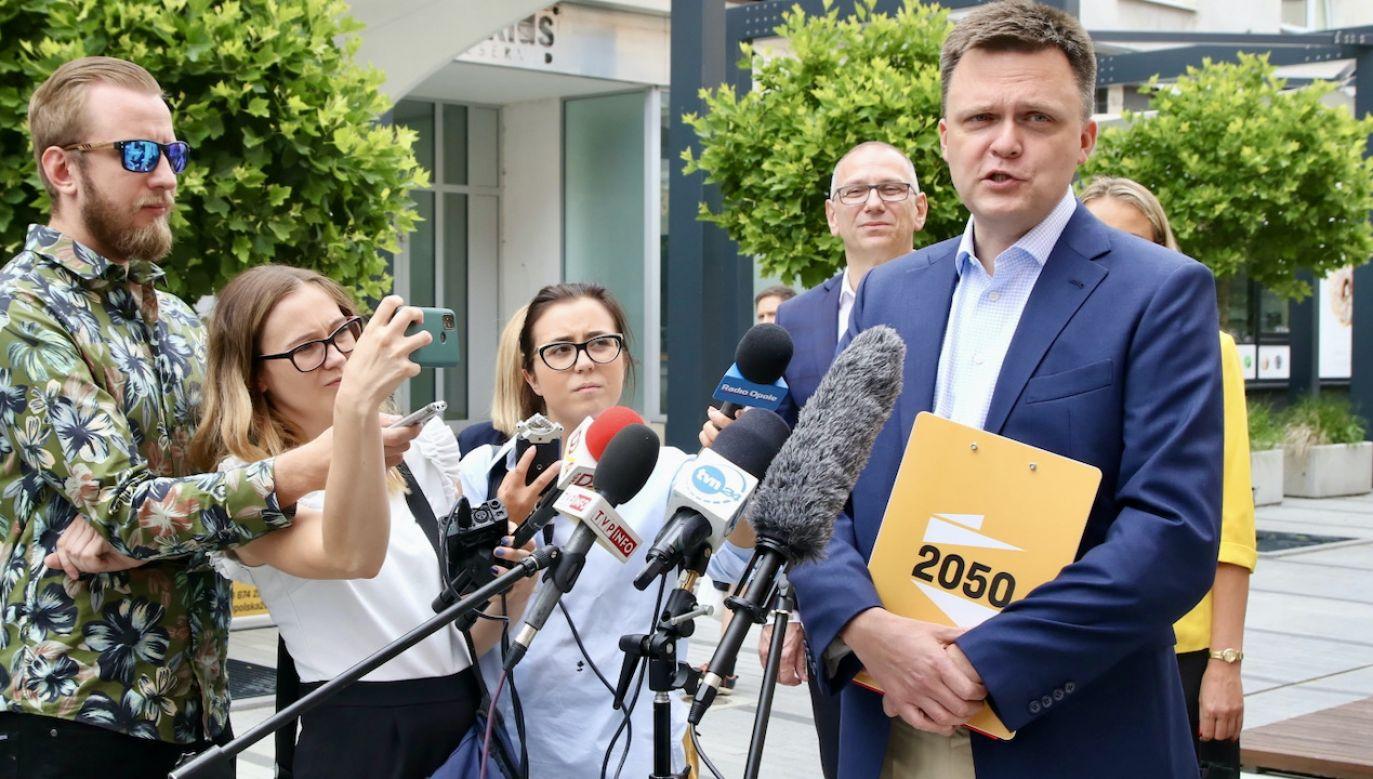 Polityk skomentował też aferę Banasia (fot. PAP/Krzysztof Świderski)