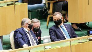 Andrzej Duda na 76. sesji zgromadzenia ogólnego ONZ (fot. prezydent.pl/)