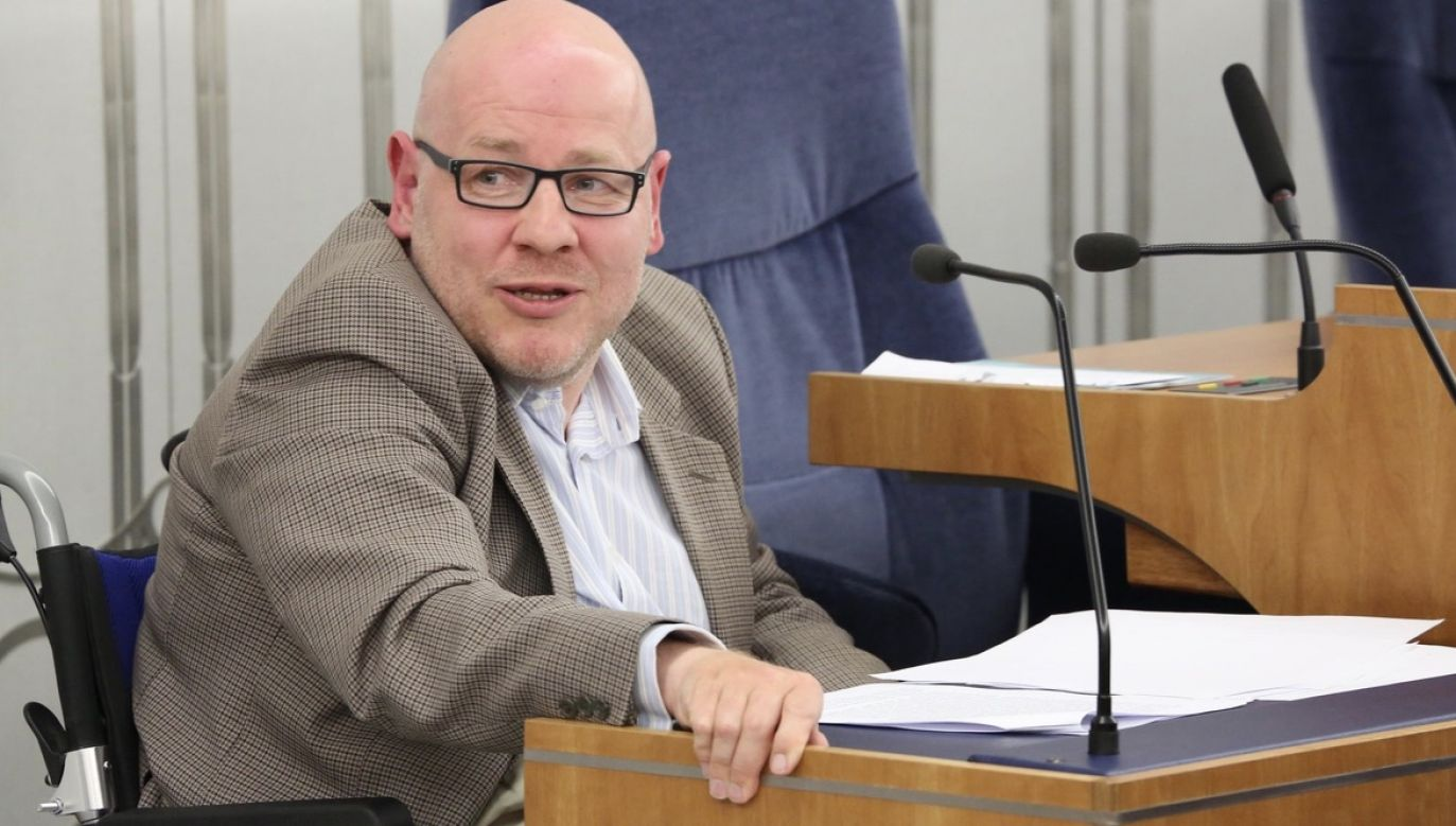 Senator Libicki o aborcji (fot. Michał Józefaciuk / Kancelaria Senatu)