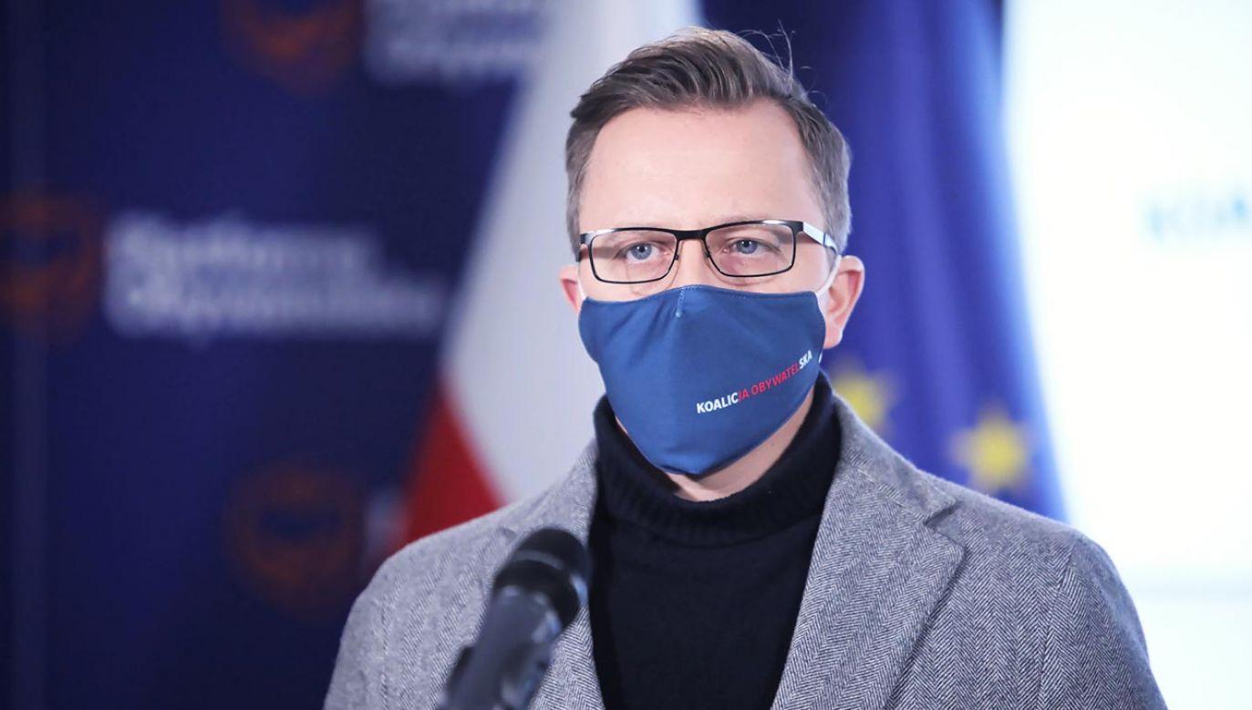 Nietypowy komentarz posła Jońskiego (fot. PAP/Wojciech Olkuśnik)