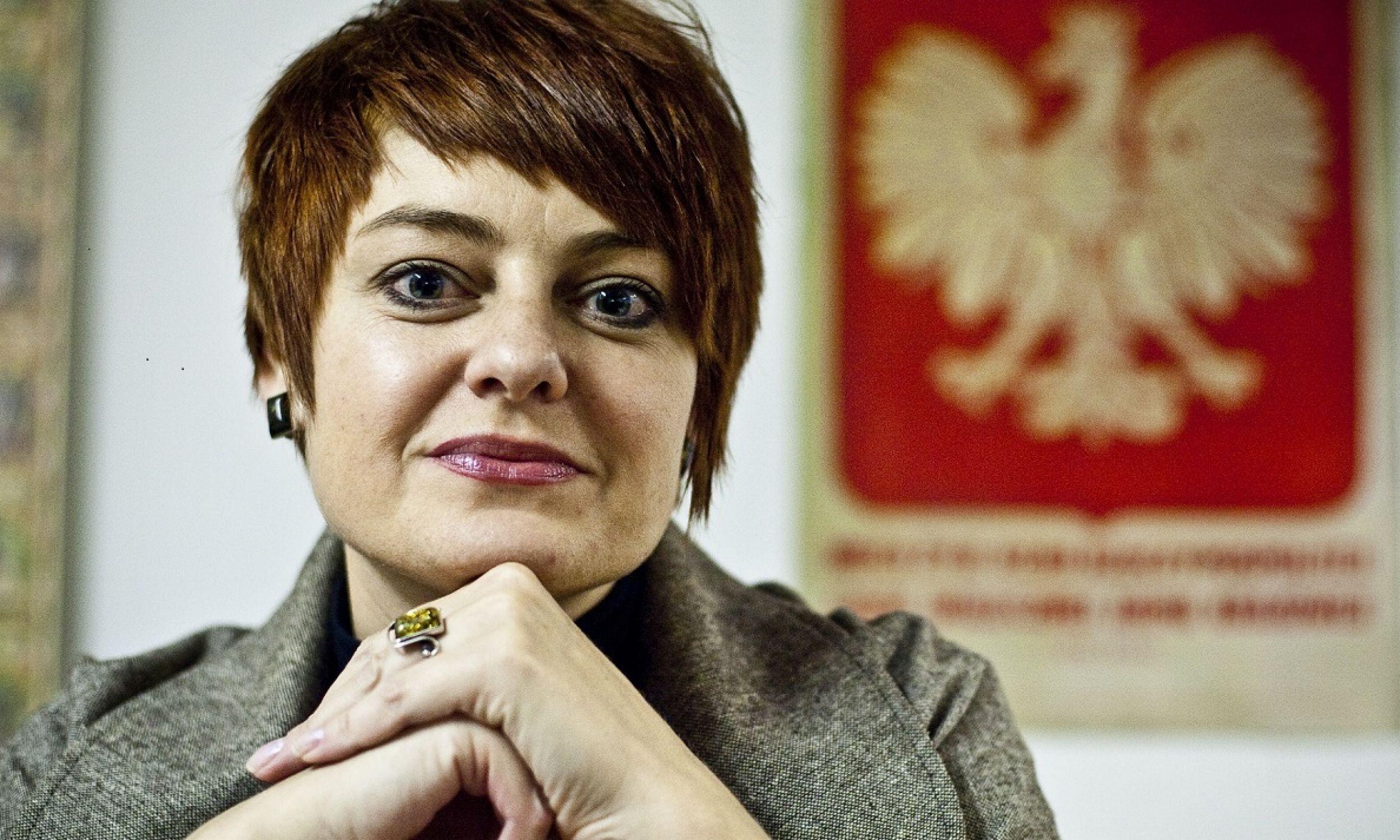 Anżelika Orechwo – działaczka mniejszości polskiej na Białorusi, od 2010 pełniąca obowiązki prezesa Związku Polaków na Białorusi nieuznawanego przez białoruskie władze, a od 2016 prezes Rady Naczelnej ZPB. Zdjęcie zrobione w Grodnie 17 grudnia 2010 roku. Fot. PAP/Wojciech Pacewicz